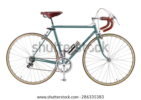 vintage bikes light blue