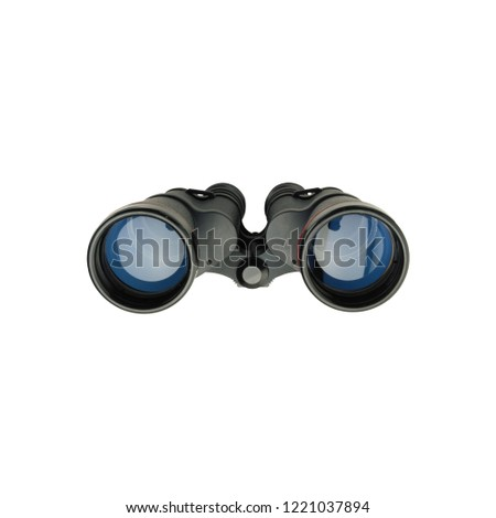 vintage binoculars military field glass isolated on white background #1221037894