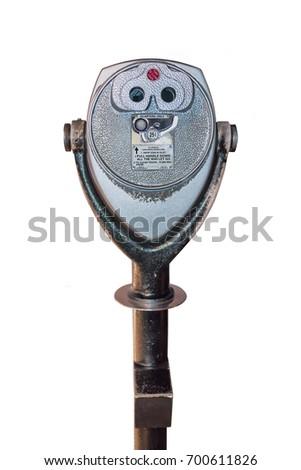 vintage binoculars tourist...