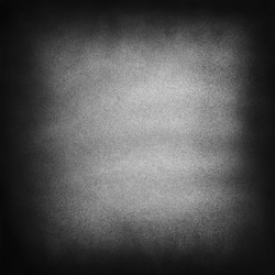 Vintage black and white noise texture. Dark splattered background for vignette. Square frame template