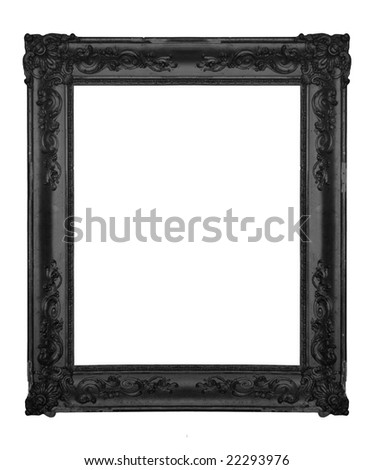 Vintage black ornate frame, similar available in my portfolio
