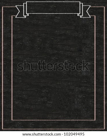 vintage blank banner written on blackboard background high resolution, easy to use