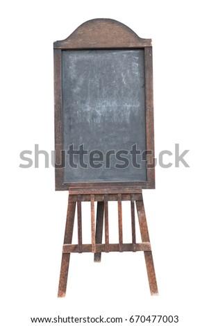 vintage blank black board...
