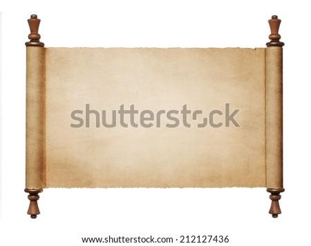 vintage blank paper scroll...