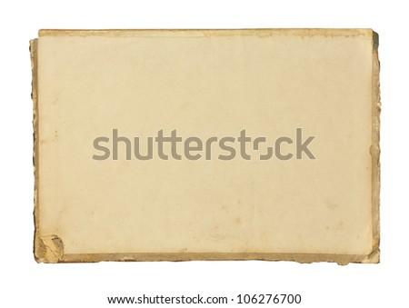 Vintage blank paper sheet