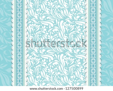 Vintage blue background for invitation, backdrop, card, new year brochure, banner, border, wallpaper, template, texture  raster version