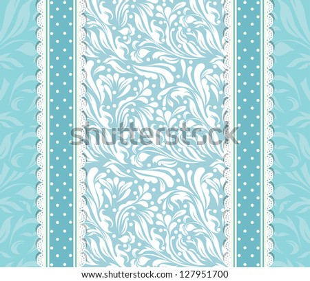 Vintage blue background for invitation, backdrop, card, new year brochure, banner, border, wallpaper, template, frame texture  raster version