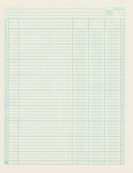 Vintage blue cream ledger paper