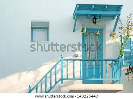 vintage blue door and window...