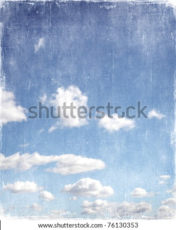 vintage blue sky background