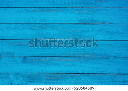 vintage blue wood background texture with knots and nail holes. Old painted wood. Blue abstract background. #520584589
