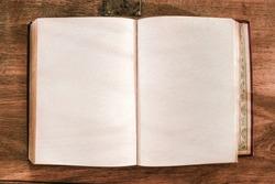 vintage book over grunge pannel wood background