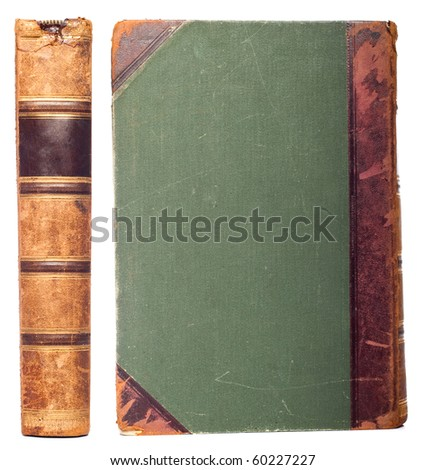 vintage book set isolated on white