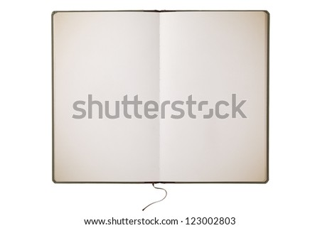 Vintage book with clipping path