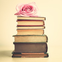 Vintage Books and Rose