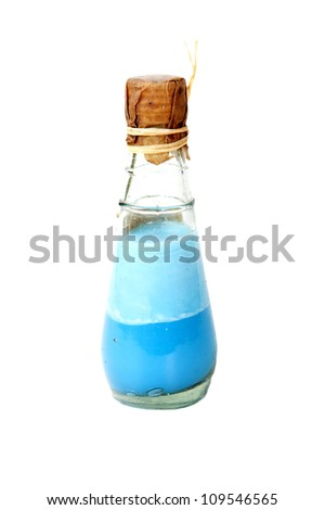 Vintage bottle on white background