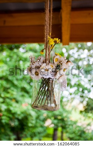 vintage bouquet of dried flowers
