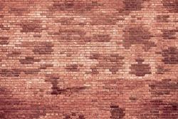 Vintage brick wall background, brickwall texture aging effect. Grunge rusty brick wall as brickwork background texture. Rustic revival masonry red brick wall or brickwall texture, obsolete background