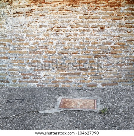vintage brick wall outdoors setting
