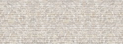 Vintage brick wall panoramic background texture. Home and office design backdrop