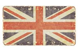 Vintage British flag. Background.