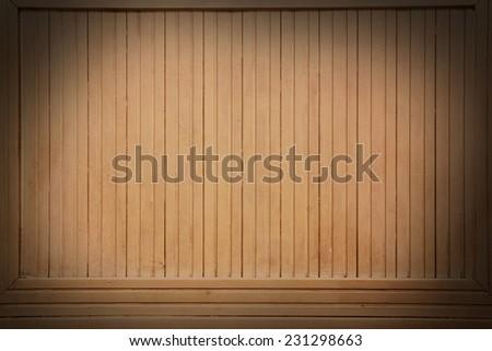 Vintage Brown Beige Colored Wood Backboard Billboard Background Texture. Instagram style