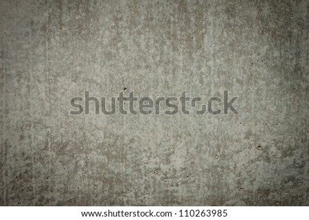 Vintage brown painted plaster concrete wall background. Dark edged
