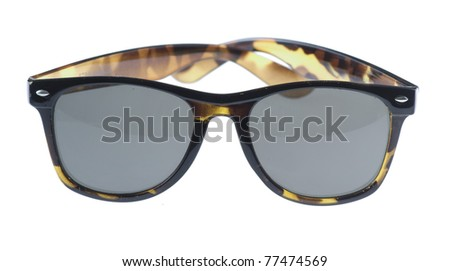 vintage brown sunglasses isolated on a white background