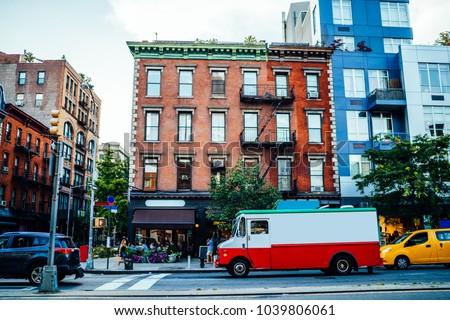 vintage building exterior in...