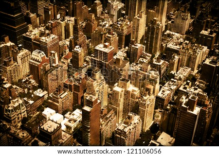 Vintage Buildings Texture Background of New York City