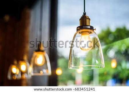 vintage bulb lighting interior...