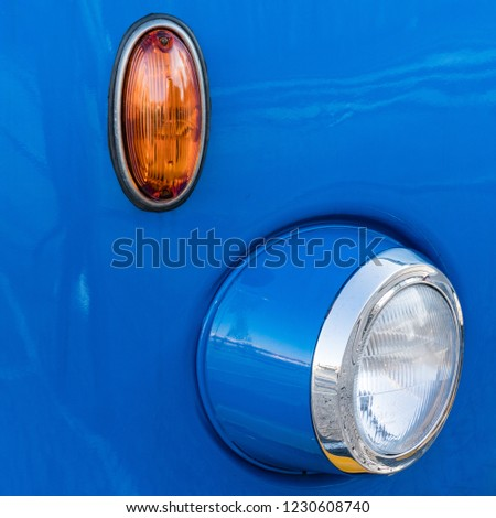 Vintage Bus indicator and headlight, Plac Defilad, Warszawa, Pol #1230608740