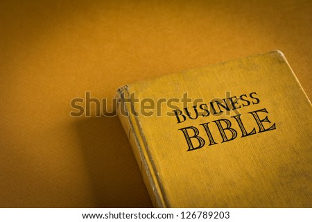 Vintage Business Bible with business commandments and rules