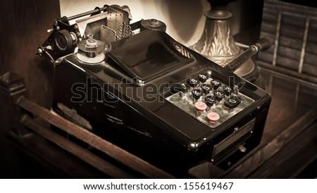 Vintage Calculator Sepia Toning #155619467