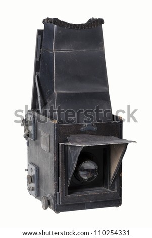 Vintage camera isolated on a white background.