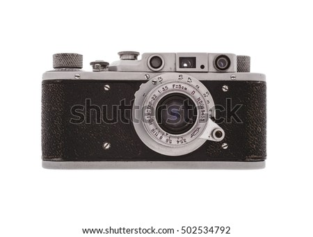 vintage camera isolated on...