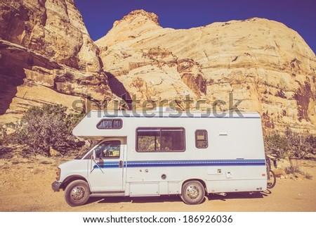vintage camper in utah...