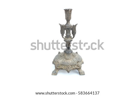 vintage Candlestick on isolated  #583664137