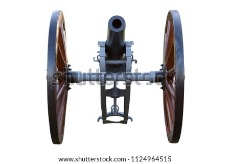 vintage cannon isolated on...