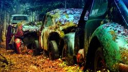 vintage car effect