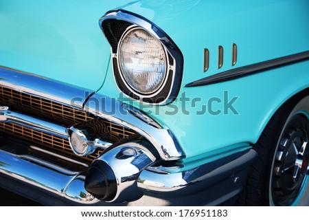 Vintage Car Front Detail #176951183