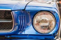 Vintage Car Head Light Close Up