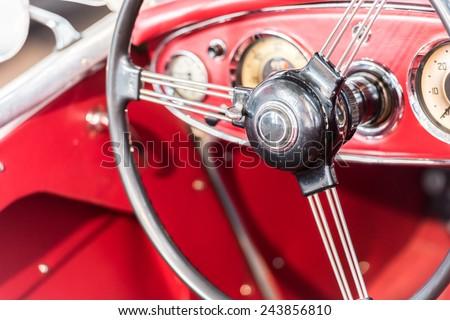 Vintage Car Interior #243856810