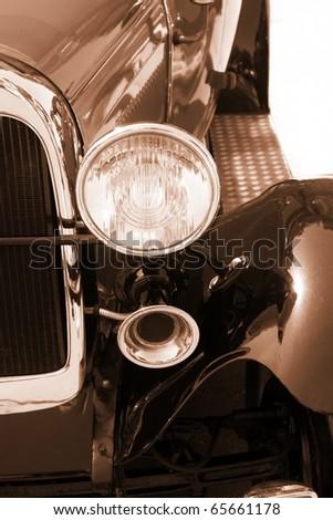 Vintage car - sepia