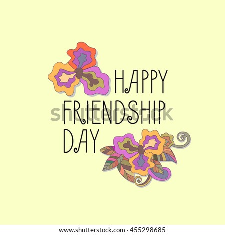 Vintage Card Template International Day Of Friendship For Banner