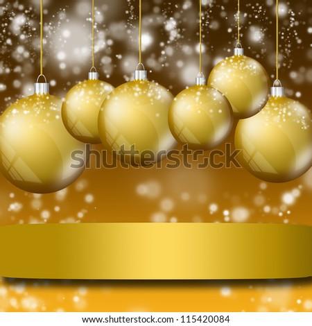 Vintage card with Christmas balls. illustration