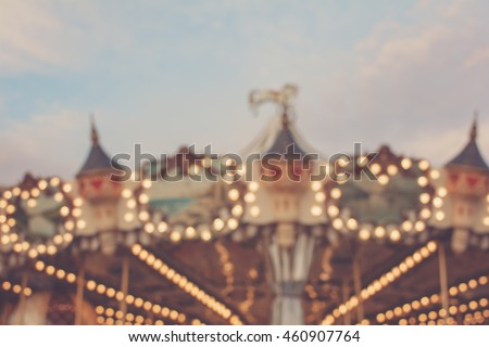 vintage carrousel   blurred...