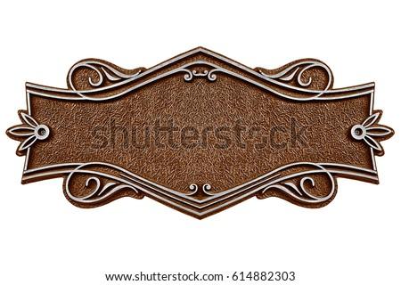 vintage cast metal plate...
