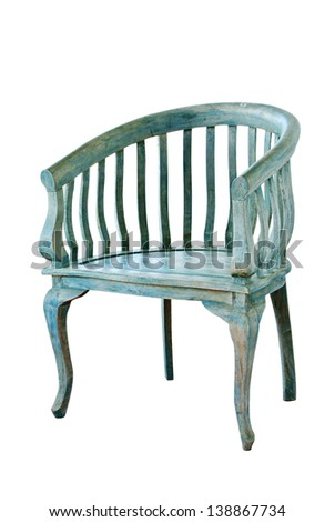 vintage chair isolate on white