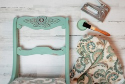 Vintage chair makeover - chalk paint and new fabric